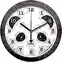 Horloge panda  A Little Lovely Company  Horloge silencieuse pour décorer la chambre de votre bébé ou de votre enfant  Idée de cadeau dannivers...