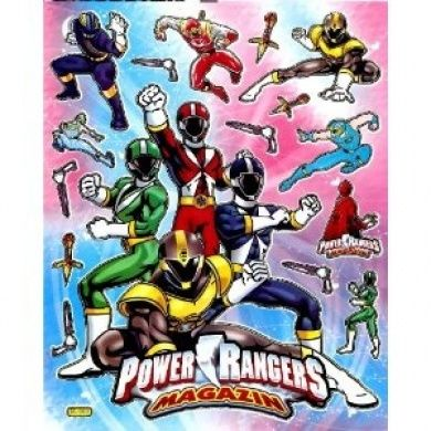 Mighty morphin power rangers fox kids sticker sheet bl089 blue ranger red ranger yellow ranger