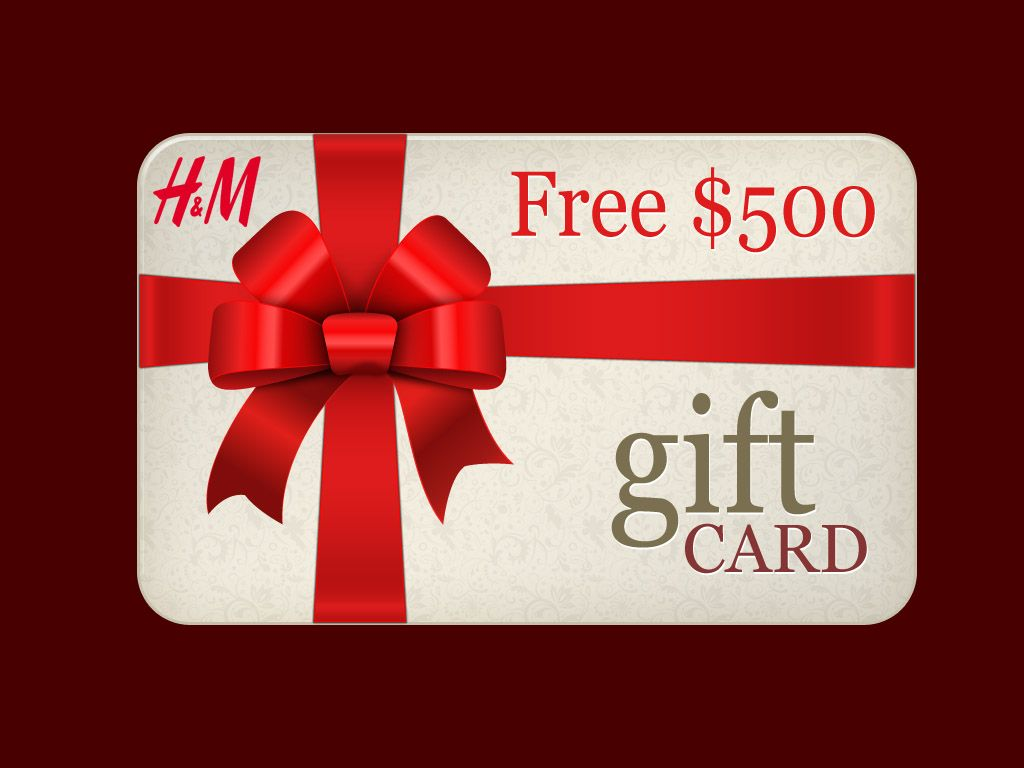 Boom just received my free hm gift card worth 500