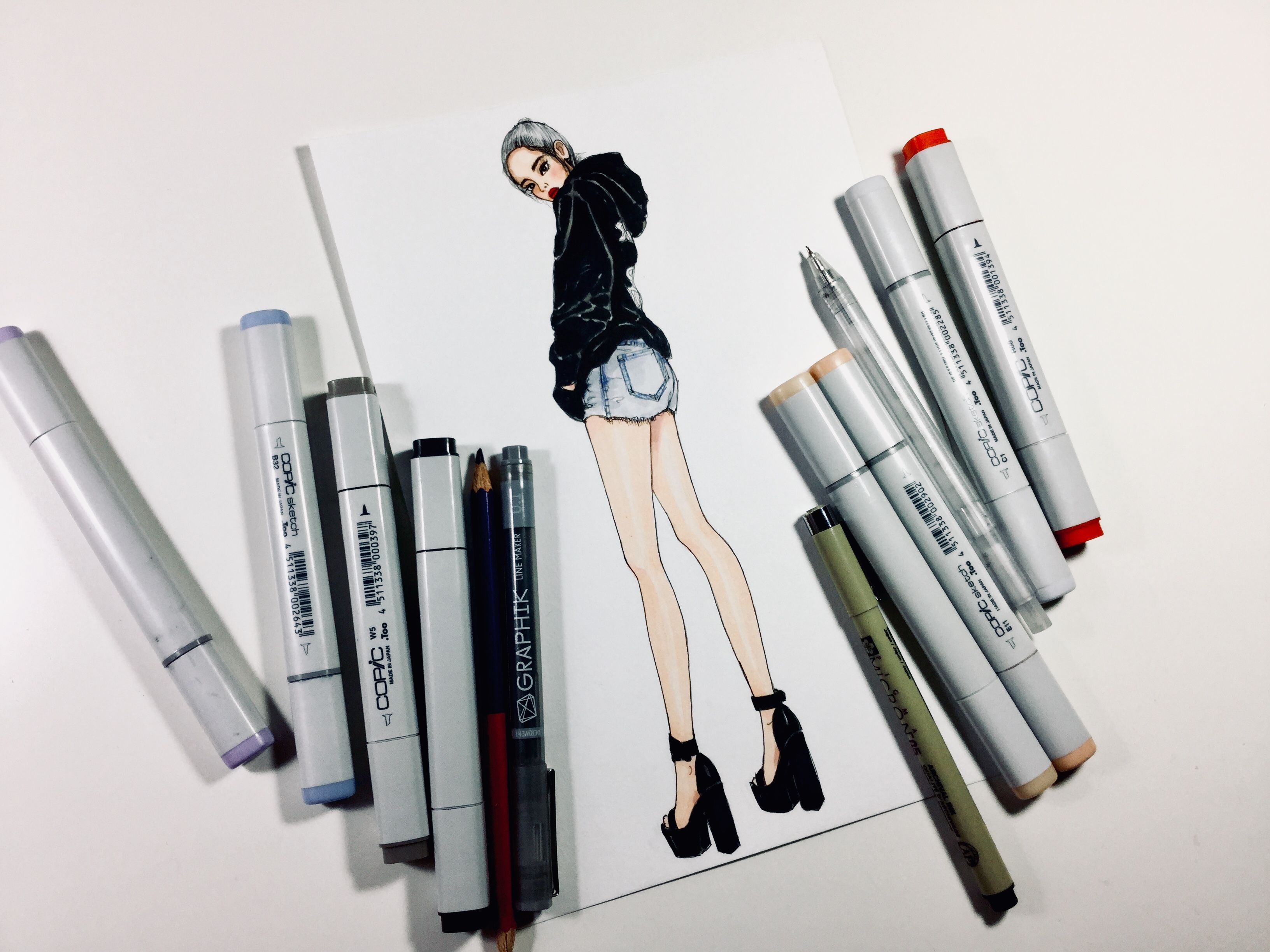 Fashionillustration Fashiondrawing Fashionart Marker Markerart