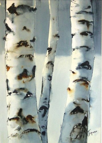 Birch Trees In Winter Tree Art Tree Painting