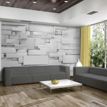 Vlies Fototapete 400x280 cm ! Top Tapete ! Wandbilder XXL Wandbild - tapeten wohnzimmer modern grau