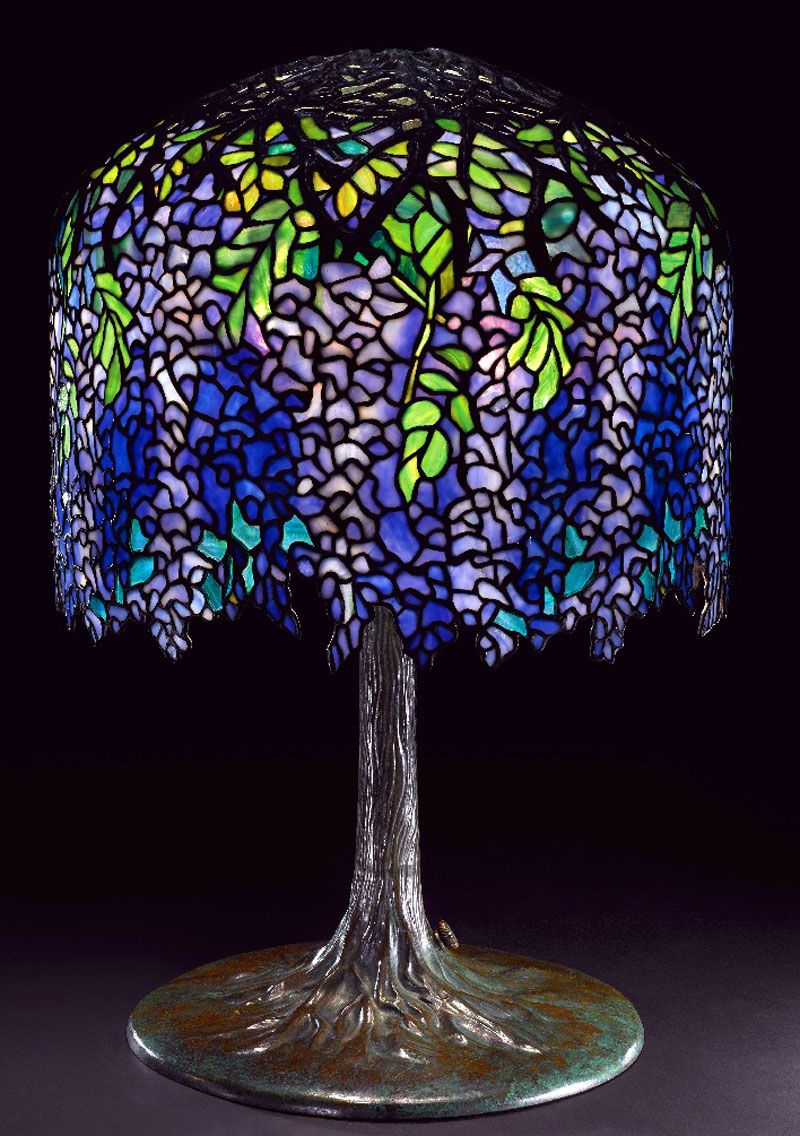 This american art nouveau table lamp is no longer available - Shining A Little Light On Art Nouveau Icon Louis Comfort Tiffany