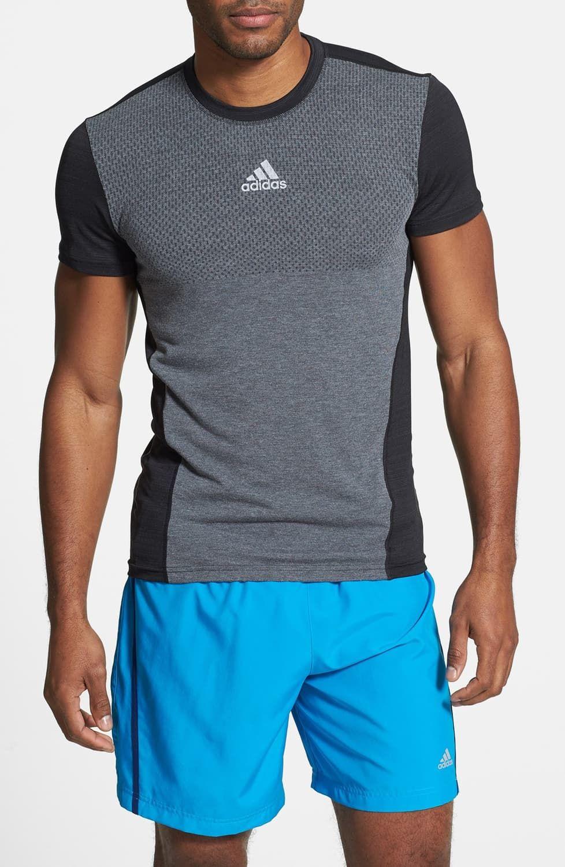 adidas 'Sequencials' Slim Fit Short Sleeve TShirt