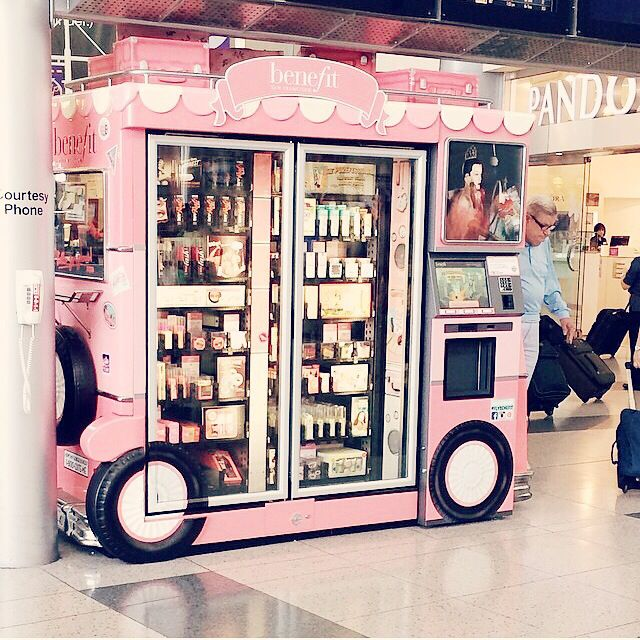 Benefit vending machine that I saw in Dallas airport! ⭐️