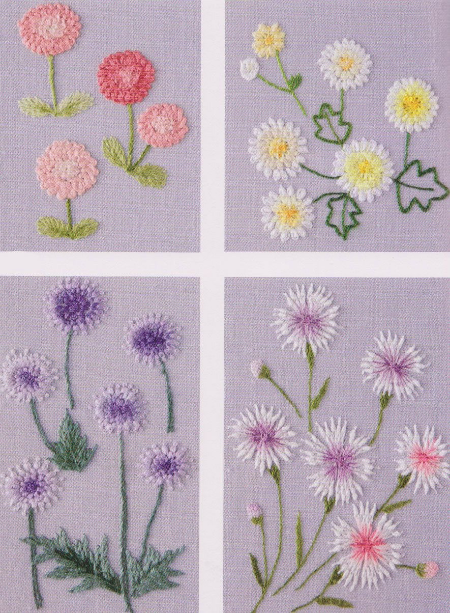 Flower in my garden hand embroidery stitch sewing applique patchwork