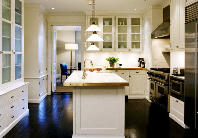 White Kitchen Espresso Island nathan egan - kitchens - white, glass-front, kitchen, cabinets