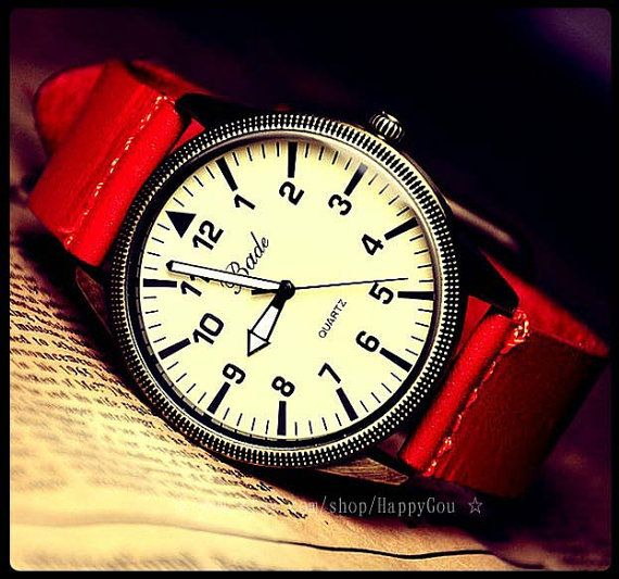 dded2e04bea Vintage Mens Watch by HappyGou on Etsy
