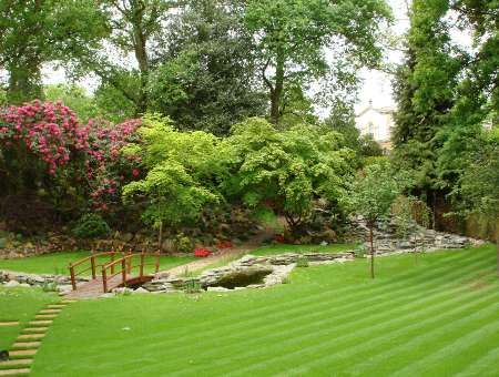 Drainage Ditch Landscaping | Japanese Style Garden In Virginia Water,  Surrey Japanese Style Terrace .