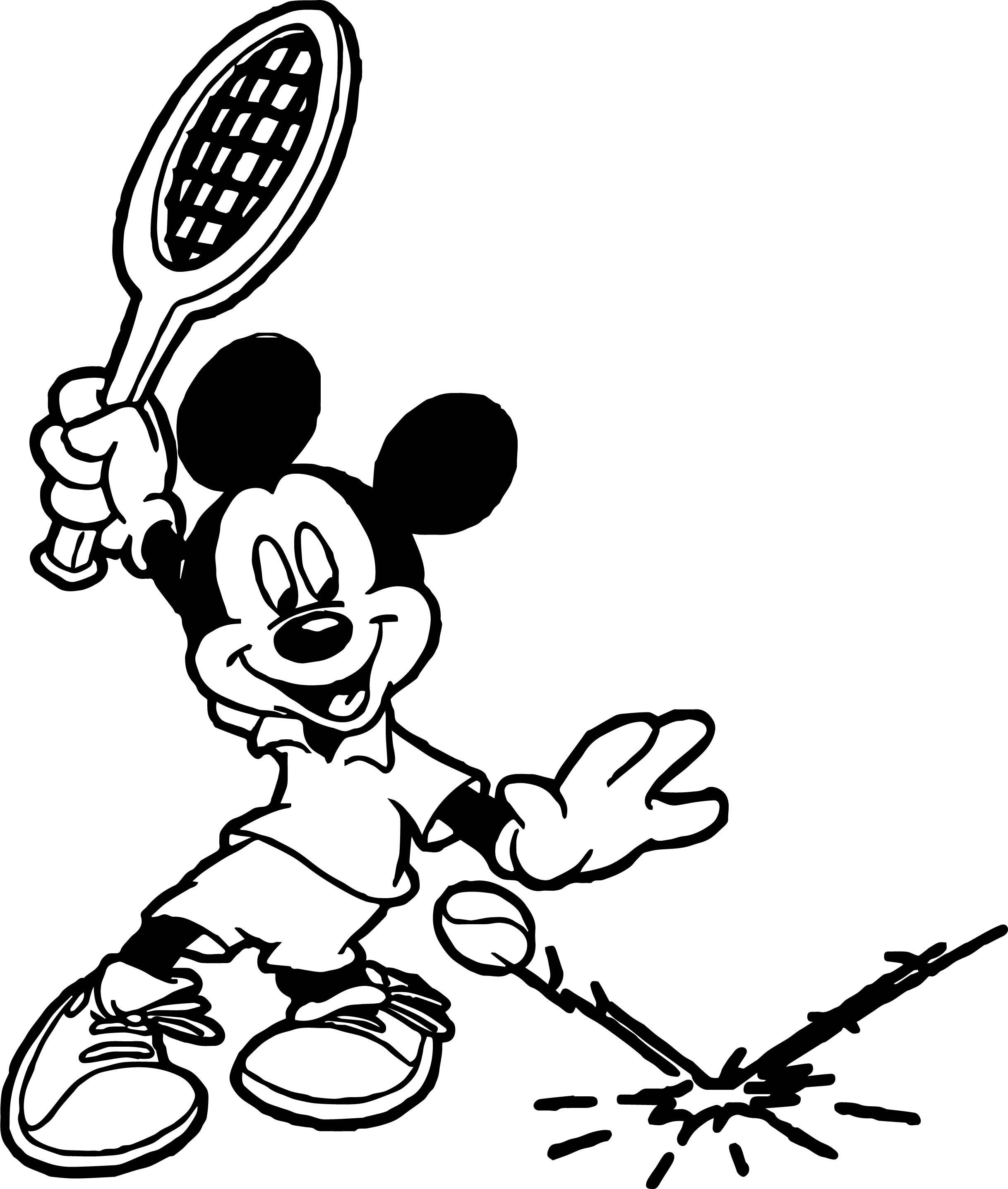 Awesome Mickey Tennis Splash Tennis Ball Coloring Page Coloring Pages Coloring Sheets For Kids Coloring Pages For Boys