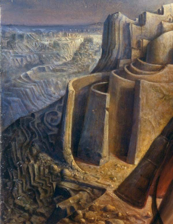 Teseo and the key of the labyrinth Teseo e la chiave del labirinto  Oil on wood cm 45x35