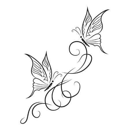 Stock Photo | Tatouage de papillon, Tatouage papillon ...