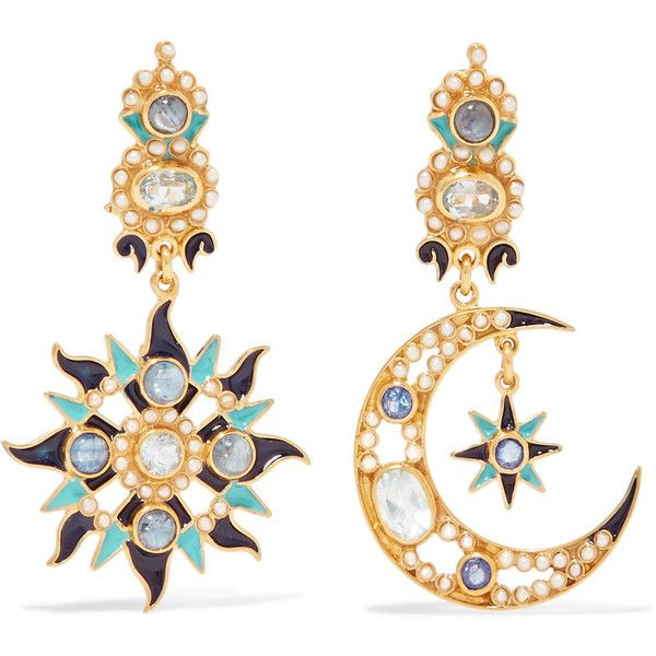 Gold-plated And Enamel Multi-stone Earrings - one size Percossi Papi ETUwPf