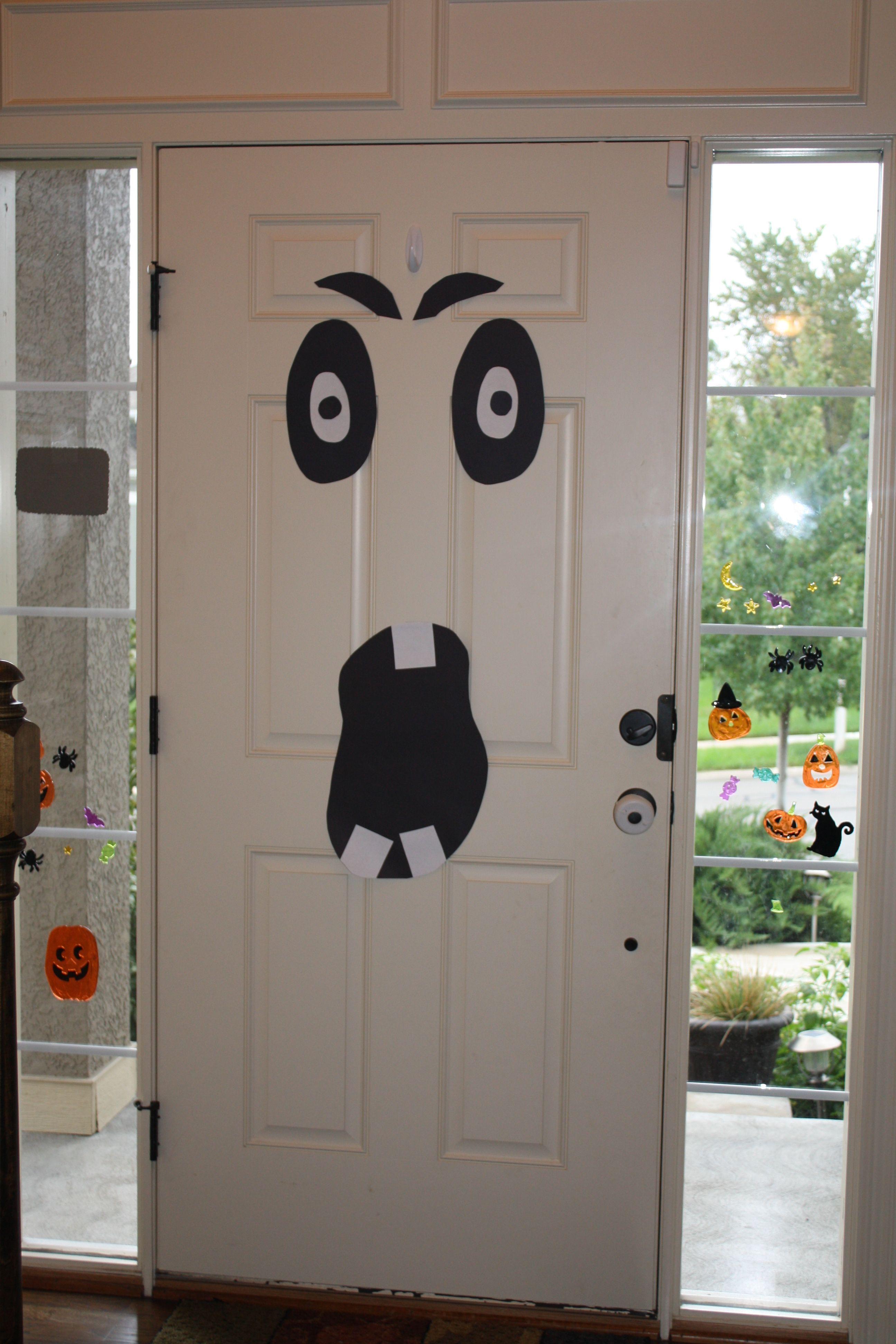 Ghost front door decoration. Front door decor, Door