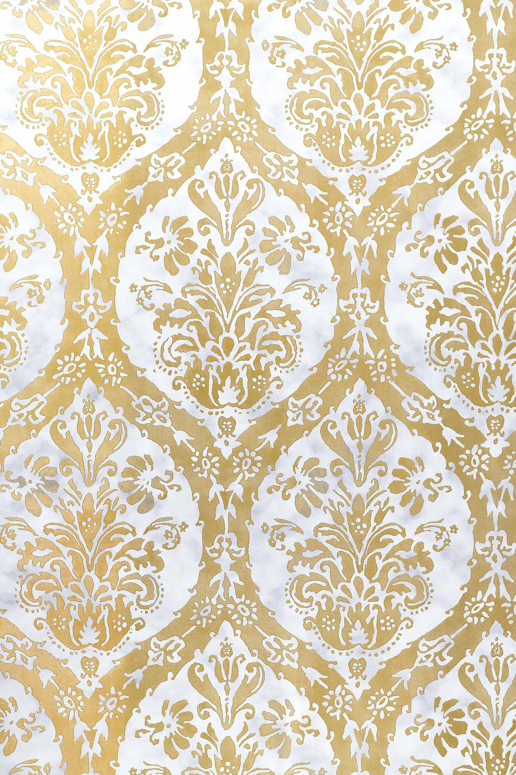 foil damask wallpaper print google search gold leaf
