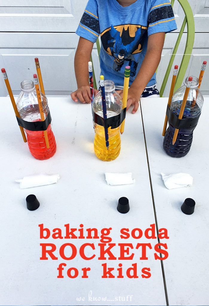 How To Make Baking Soda Rockets For Kids | Science