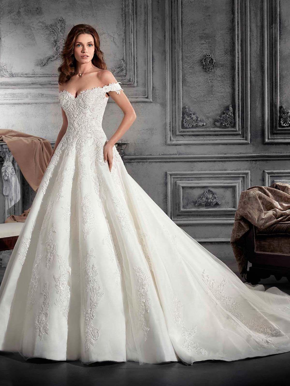 Vestidos de novia con escote de hombros caidos