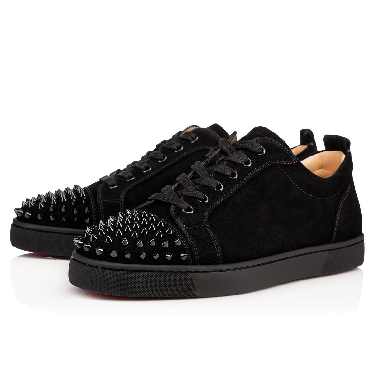 6c1c2c6ad4f Men Shoes - Louis Junior Spikes Veau Velours - Christian Louboutin