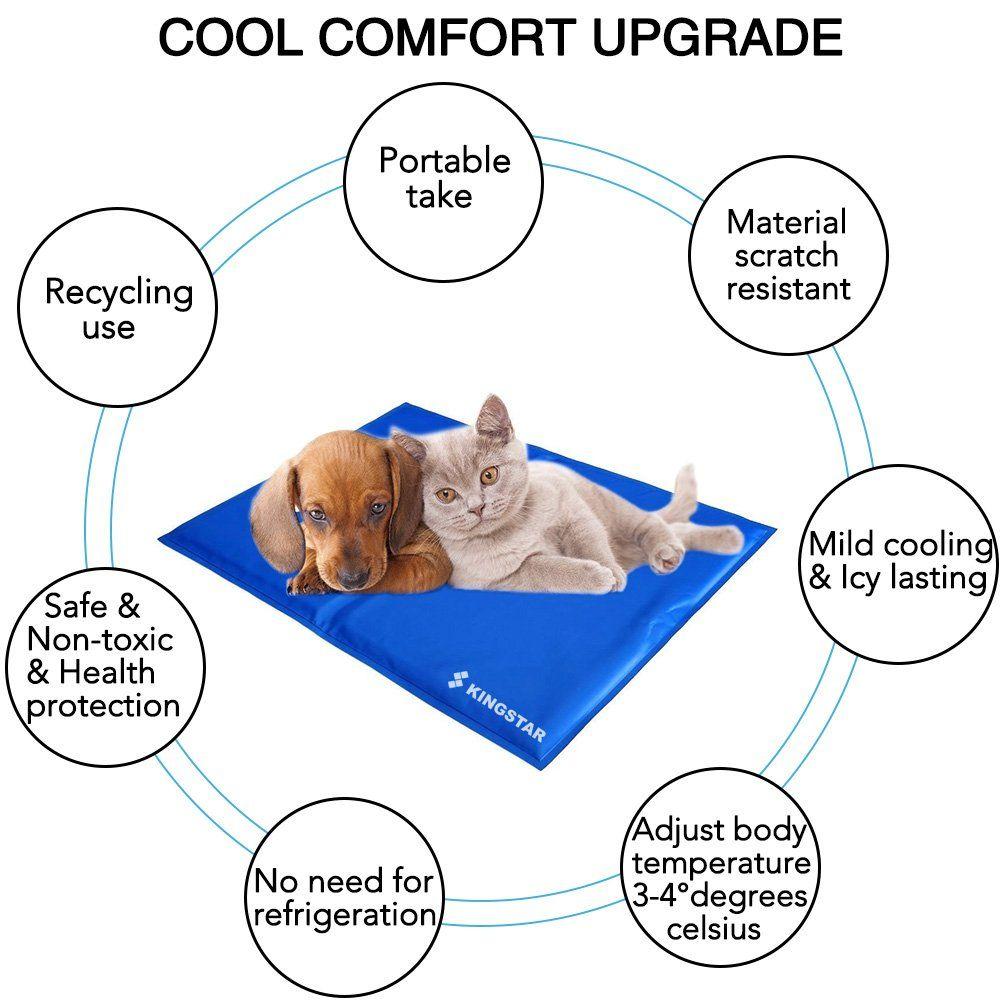 Kingstar Pet Chilly Gel Mat Pads Folding Soft Comfort Bed Self