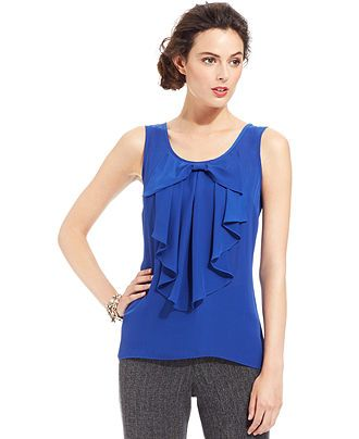 bridesmaid's top?  AGB Sleeveless Bow-Embellished Blouse - Tops - Women - Macy's