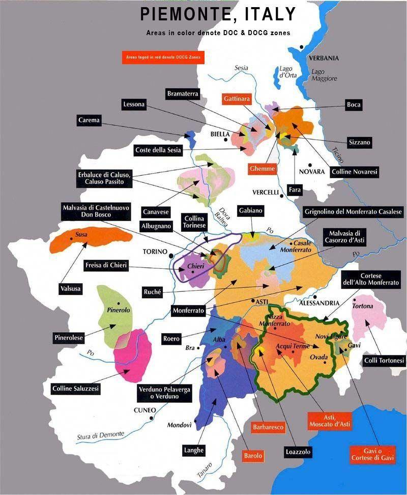 Cartina Italia Asti.Mappa Dei Vini Piemontesi Winefridge In 2019 Italian