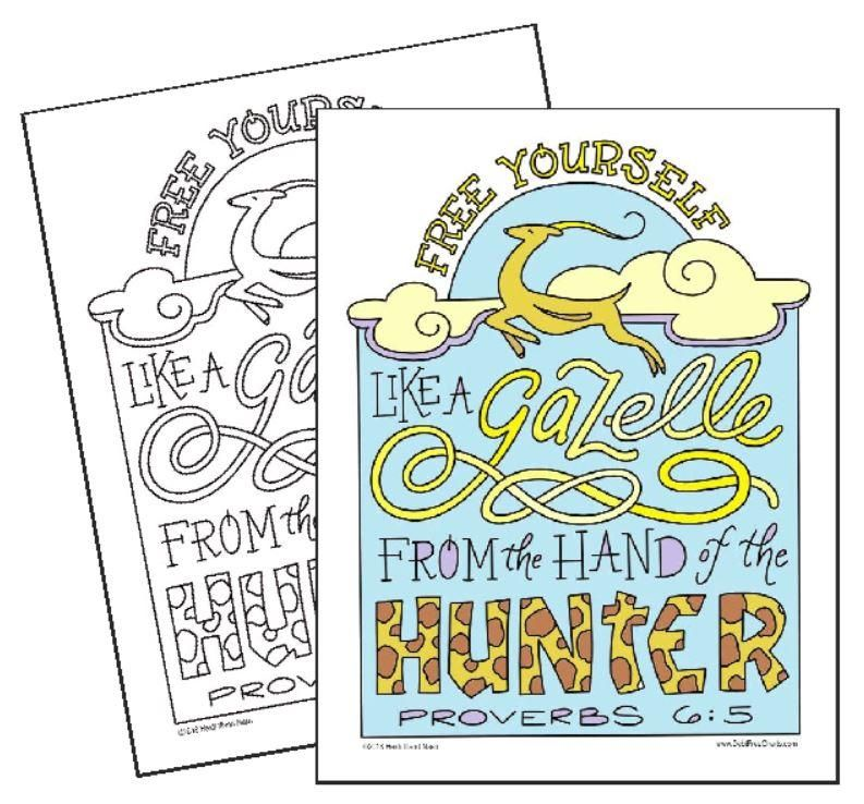 Free Yourself Like A Gazelle Coloring Page Coloring Pages