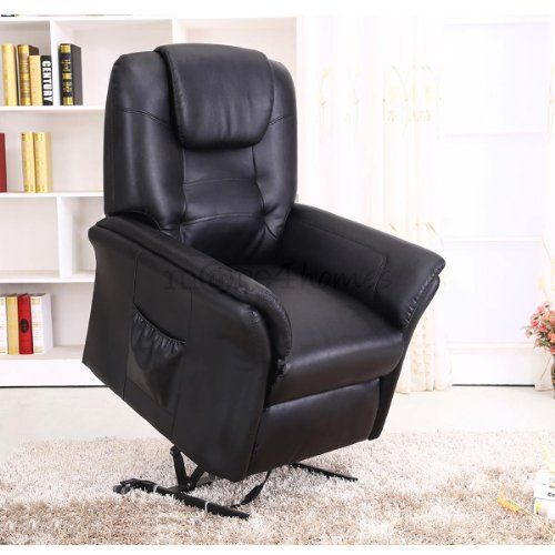 From 264.90 Windsor Electric Rise Recliner Leather Armchair Sofa Home  Lounge Chair (black)