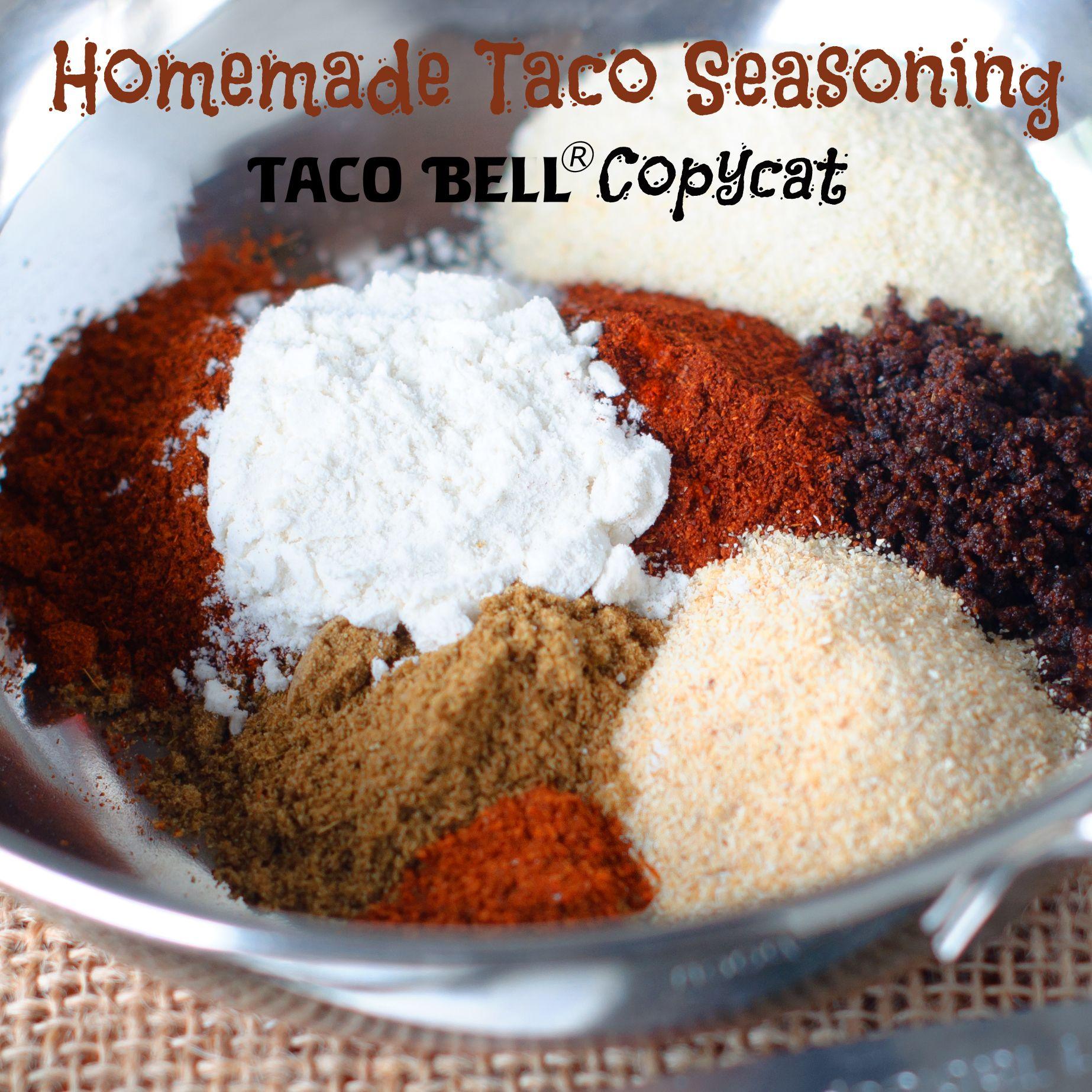 Taco Bell Copycat Homemade Taco Seasoning Myallrecipes Imadeit