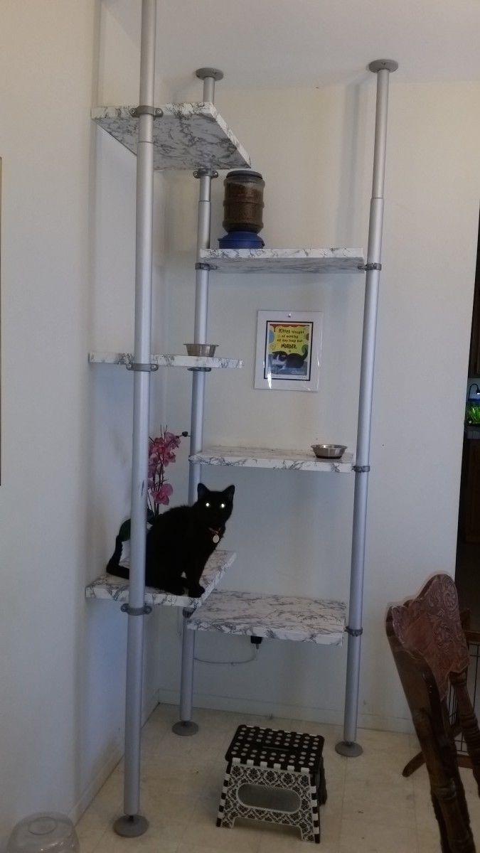 Stolmen Cat Feeding Station Cat Tree Kat Speeltuin Krabpaal
