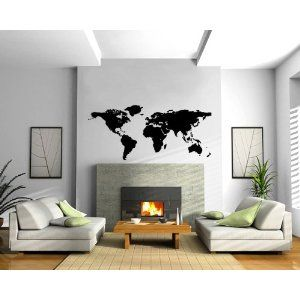 World map earth globe science geography decor wall mural vinyl decal world map earth globe science geography decor wall mural vinyl decal sticker m017 i like gumiabroncs Images