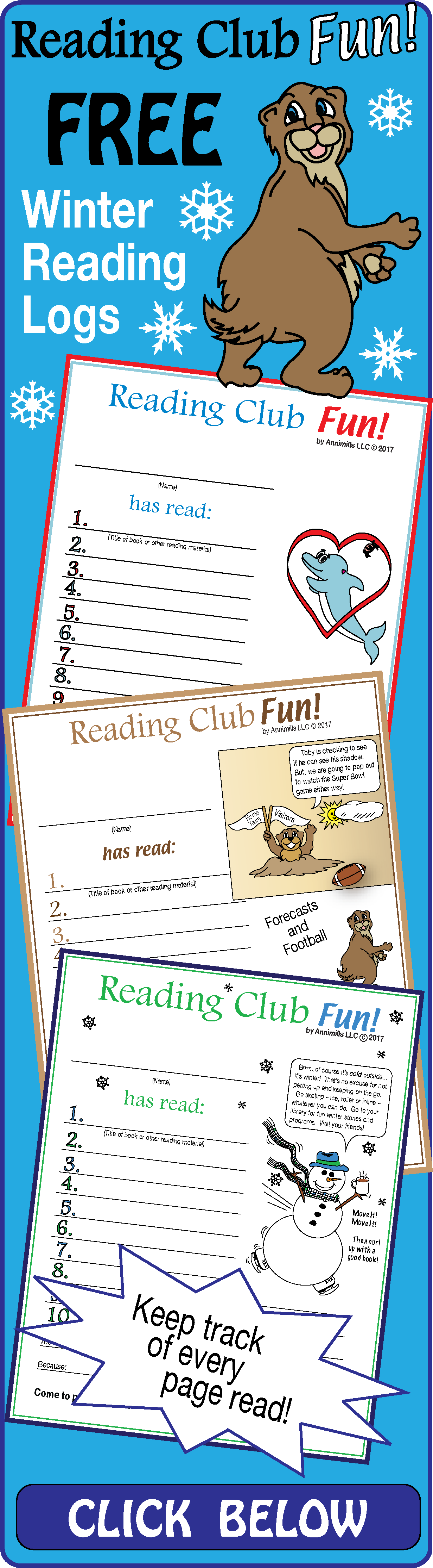 Free Reading Logs And Certificate Sets To Encourage Kids