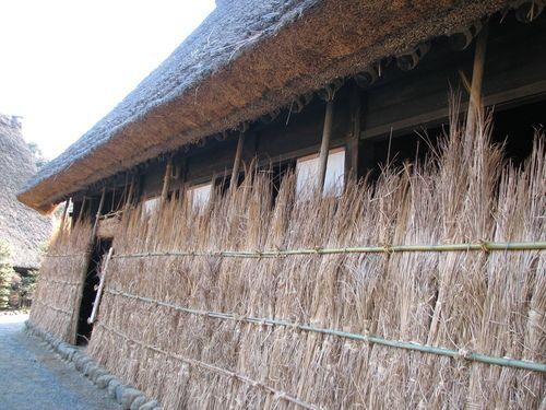 2008.01.06 日本民家園 山田家 越中五箇山の雪囲い Snow Fence of Yamada House built in the early 18th century, Japan Open-Air Folk House Museum