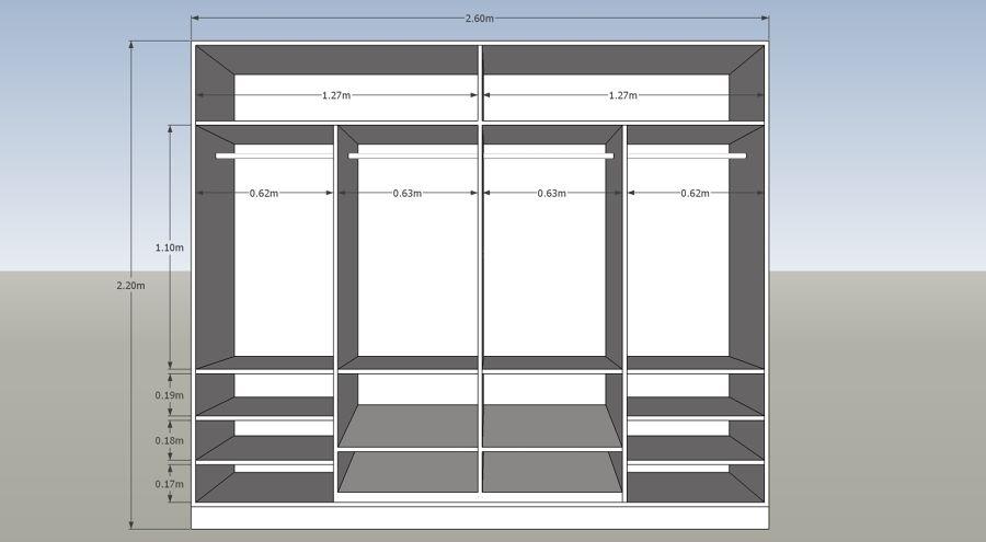 Planos de muebles de melamina pdf buscar con google for Planos de muebles de madera pdf