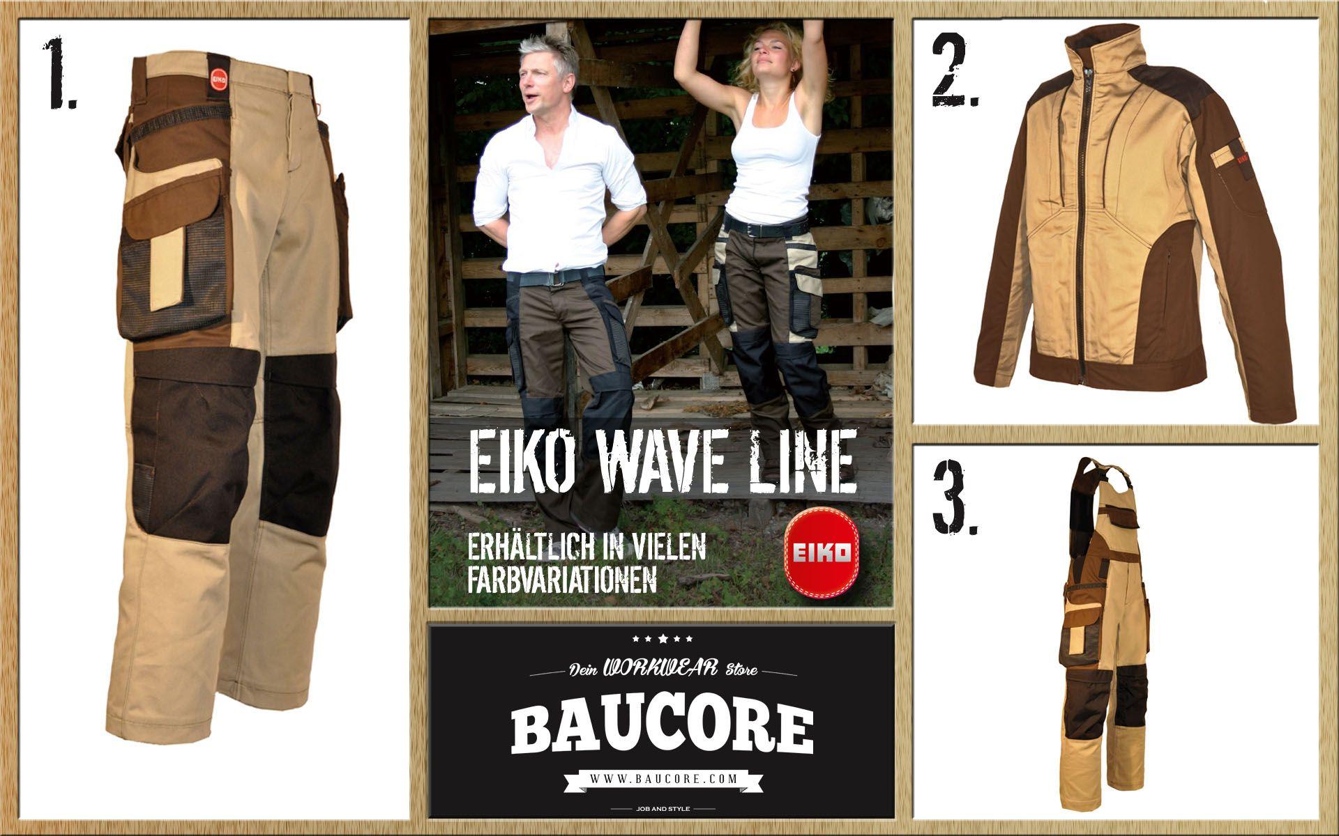 Die Eiko Wave Line, vereint ein cooles Design mit einem funktionellem Aufbau. Die Wave Bundhosen und Wave Blouson verleihen eine schlanke Linie und sind leicht und angenehm zu tragen. Überzeugen Sie sich selbst von der tollen Qualität der Eiko Wave. Erhältlich im Workwear Store: Baucore.com http://www.baucore.com/berufsgruppen/schreiner-tischler/eiko-wave-superbag-herren/a-945/