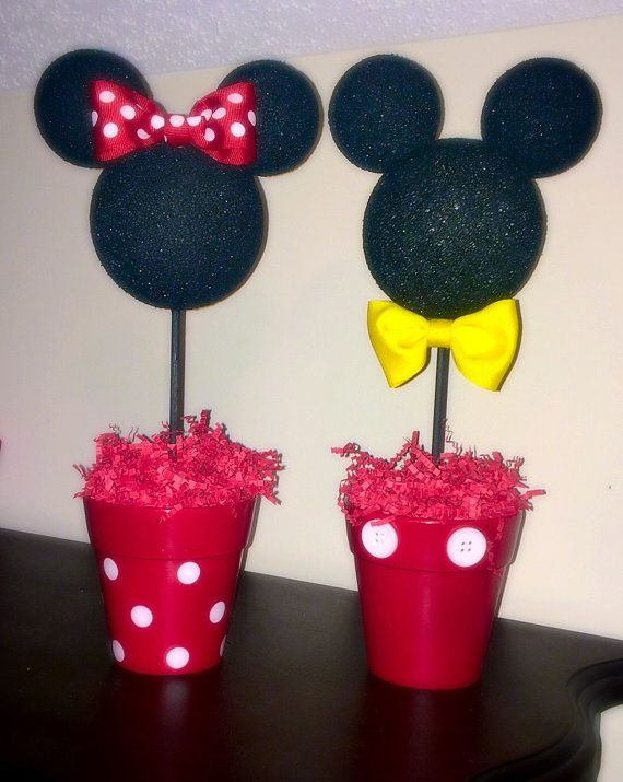 Mickey And Minnie Inspired Centerpiece Minnie And Mickey Inspired