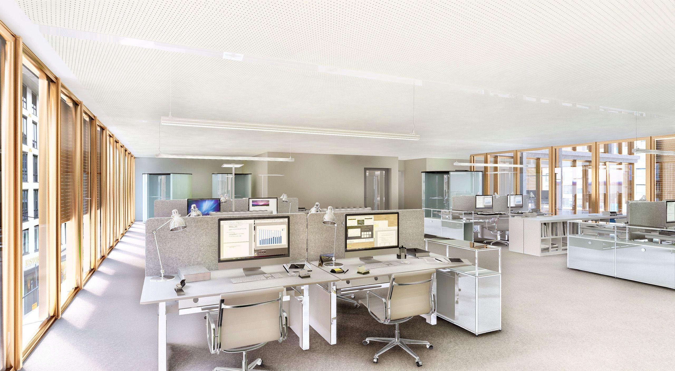 Architekturvisualisierung Stuttgart interior berlin invalidenstraße office lobby render