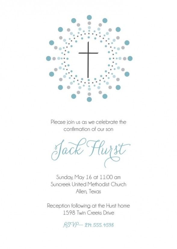 Party Invitations  First Communion Invitation For Boy With White