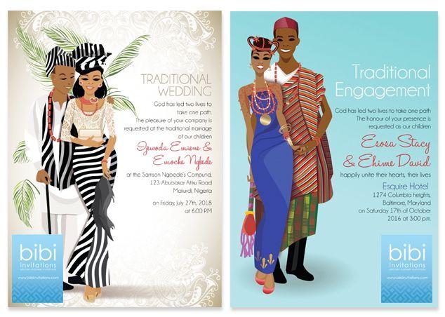 Igbo Traditional Wedding Invitation Cards: Bibi Invitations Giveaway Contest