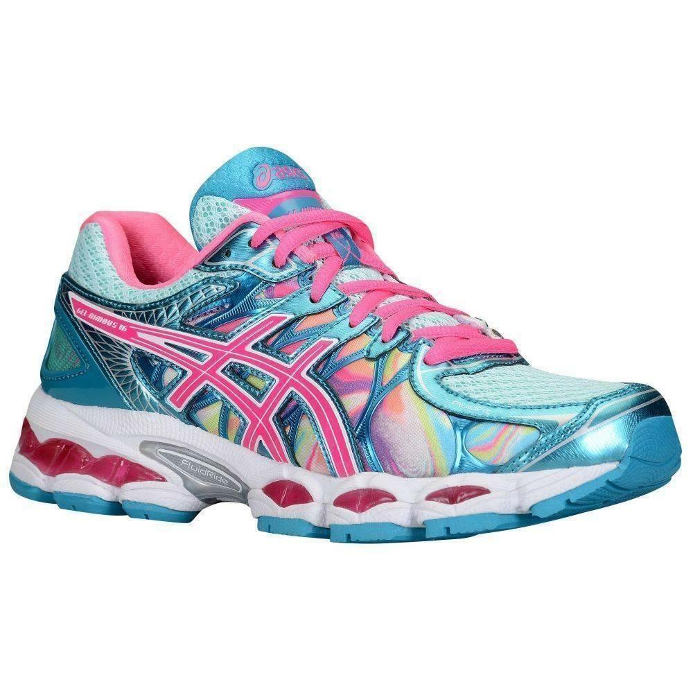 auditoría Continuamente egipcio  Asics Gel-Nimbus 16 Women's Running Shoes Iridescent/Pink/Capri Blue US 6 |  Asics running shoes, Running shoes, Womens running shoes