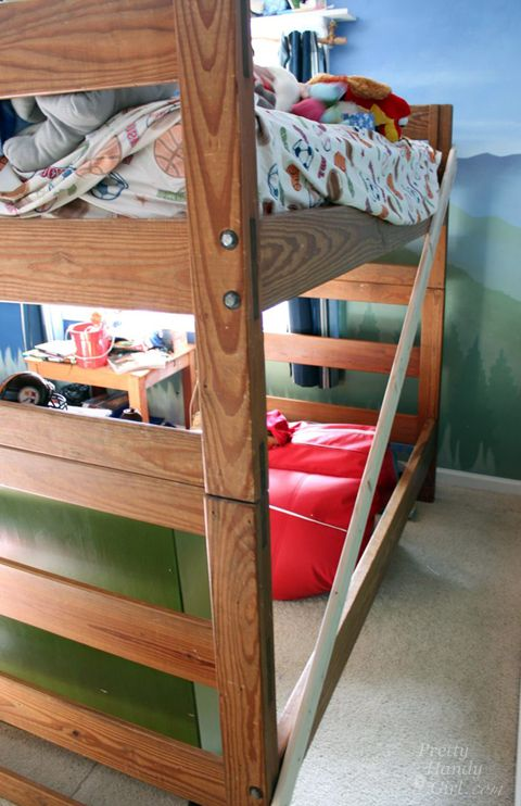 How To Turn A Bunk Bed Into A Loft Bed Pretty Handy Girl Diy Loft Bed Bunk Bed Designs Bunk Beds