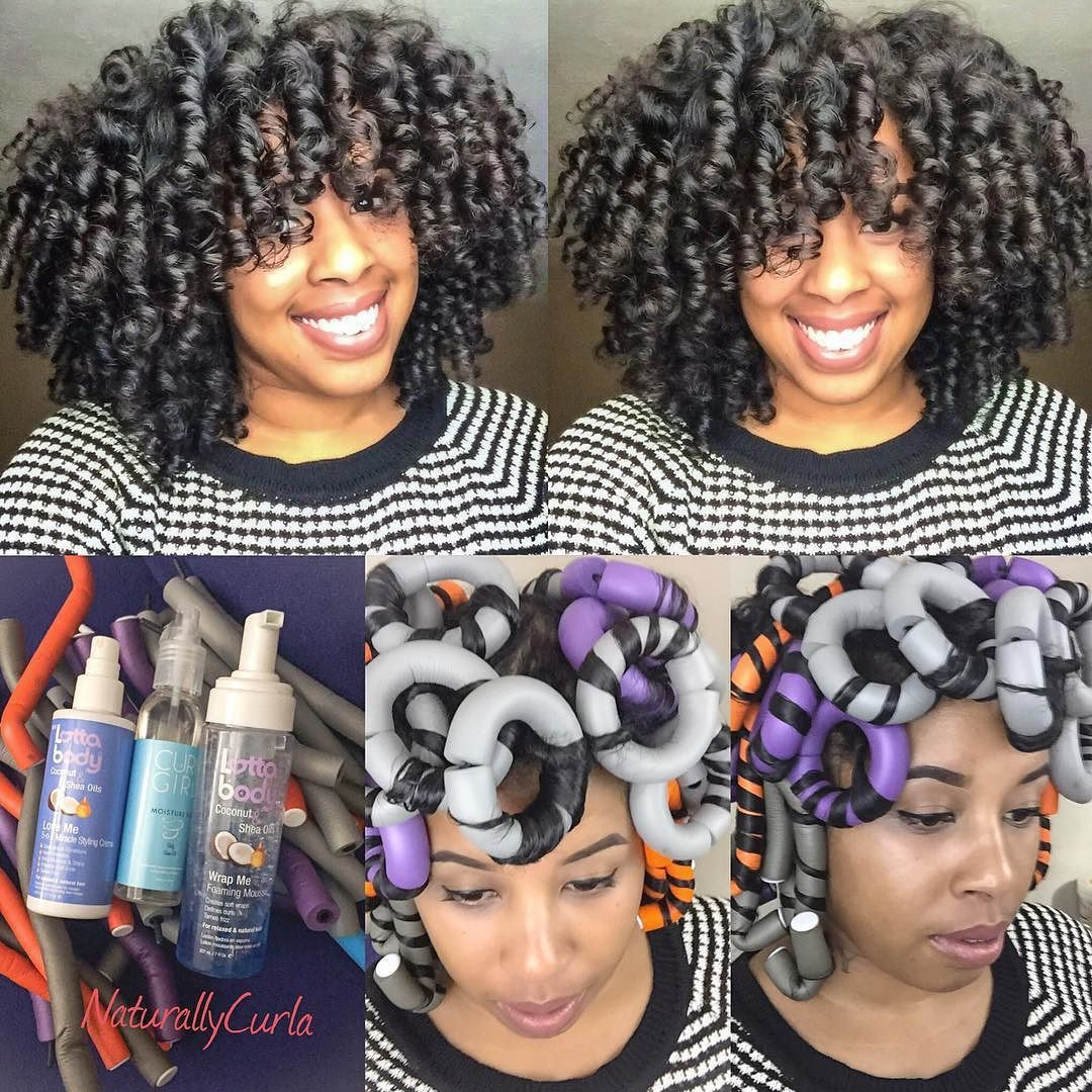 By @naturally_curla  Click the link in the Bio to see the technique I used to achieve this Flexi Rod set(or look up NaturallyCurla on YouTube. #lottabody product were used.. #curlgirl moisture fix to help with take down.  #protectivestyles by protectivestyles