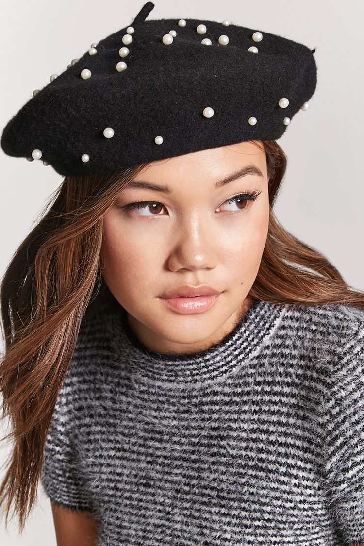 b2d3ae82f1a8 Faux Pearl Wool Beret | Forever21 | Berets with Pearls in 2019 ...