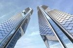 A pair of striking supertall skyscrapers  Dancing Dragons Towers have Scaly, Breathable Skin