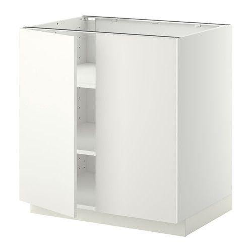METOD Onderkast met plank/2 deuren Wit/häggeby wit 80 x 60 cm ...