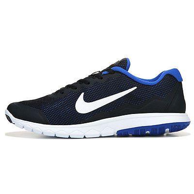 38a898c3feca Nike Flex Experience Run 4 Mens 749172-012 Black Blue Running Shoes Size 10