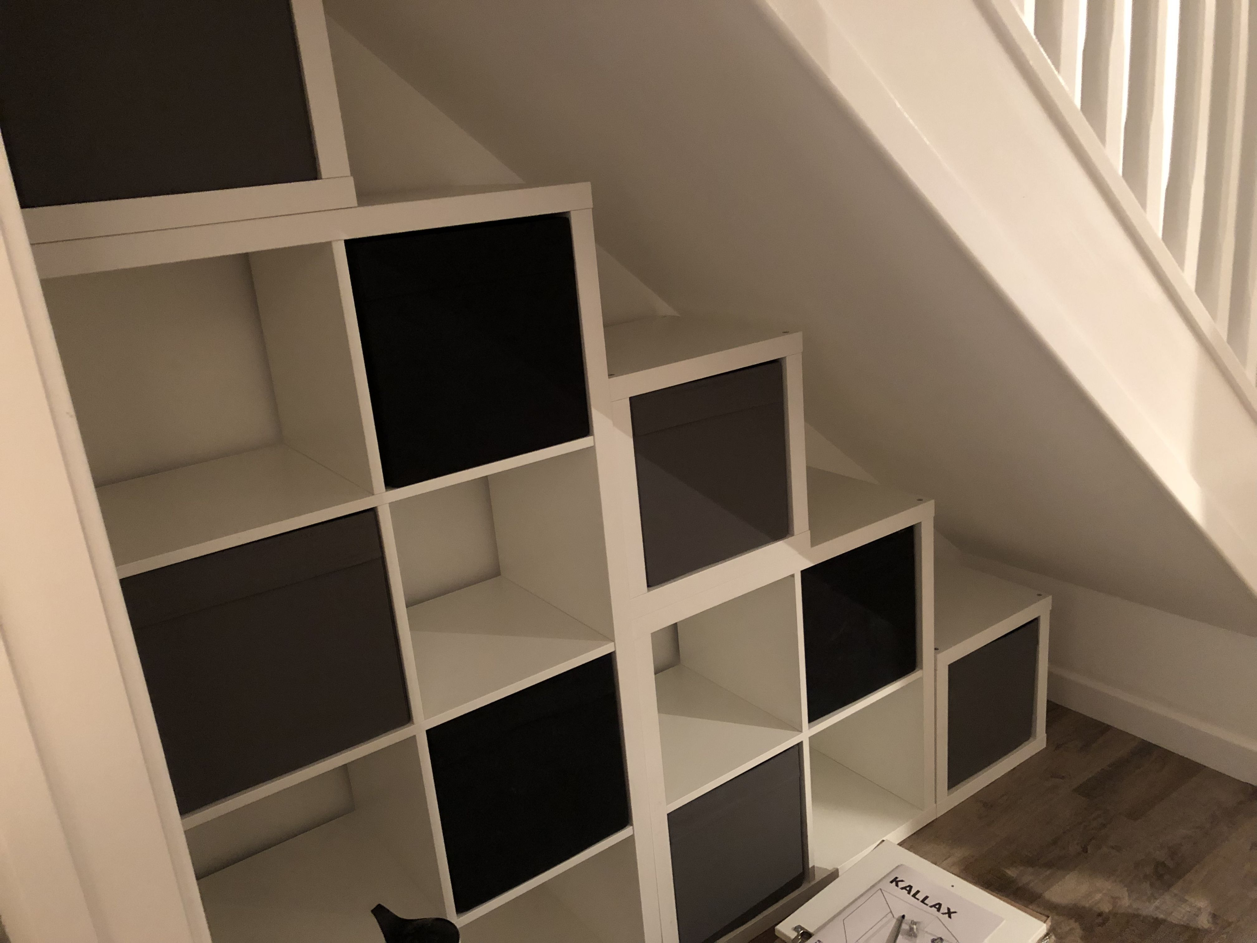 Kallax Storage Understairs Storage Under Stairs Nook Stair Nook