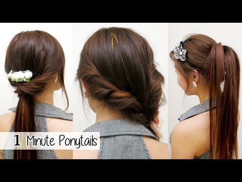 Quick Cute Hairstyles 1 Minute Ponytails Timed L Quick Cute & Easy School Hairstyles