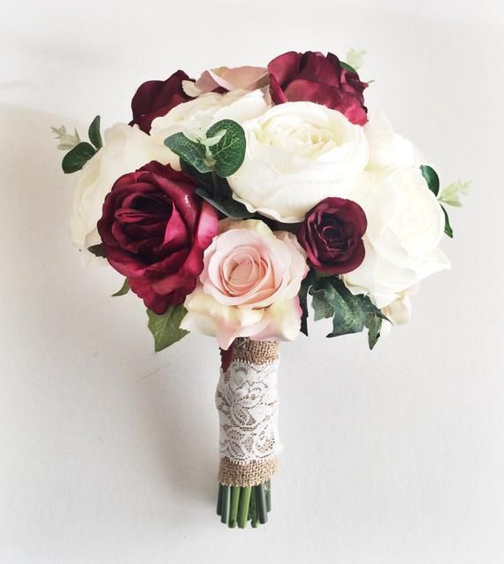 wedding bouquet, winter bouquet, Burgundy Bouquet, Bridal Bouquet,Artificial Wedding Bouquet, Bride'smaids bouquets