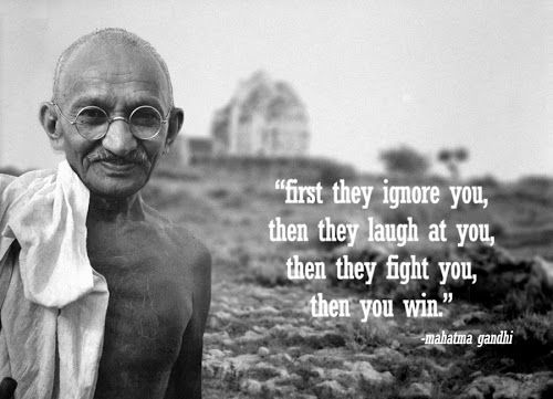 Ghandi This Guy Is A Hero I Cannot Even Fathom The Premise Of