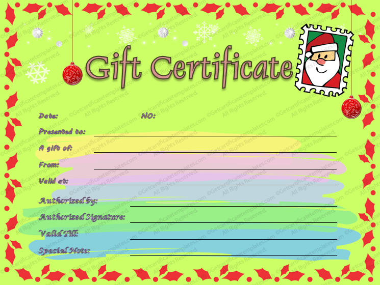 Gift certificate template beautiful printable gift certificate rather than giving a boring gift certificate you can use our christmas gift certificate templates to create your very own yadclub Image collections